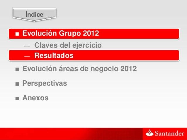 15  Índice■ Evolución Grupo 2012  — Claves del ejercicio  — Resultados■ Evolución áreas de negocio 2012■ Perspectivas■ Ane...