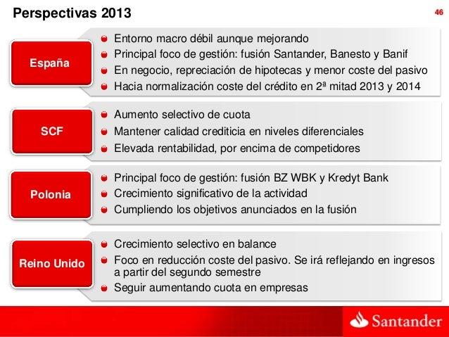 Perspectivas 2013                                                              46              Entorno macro débil aunque ...