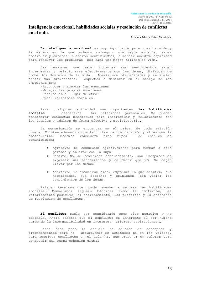 Aldadis.net La revista de educación                                                          Mayo de 2007 <> Número 12    ...