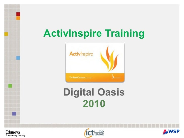 ActivInspire Training Digital Oasis 2010