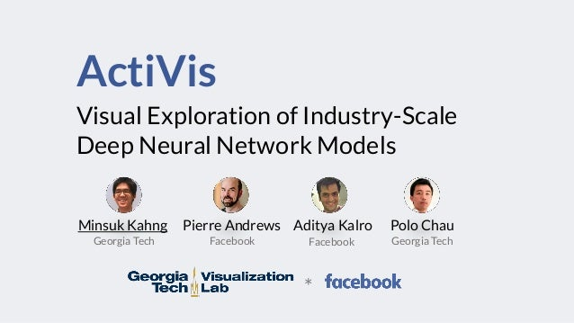 ActiVis Visual Exploration of Industry-Scale Deep Neural Network Models Minsuk Kahng Pierre Andrews Aditya Kalro Polo Chau...