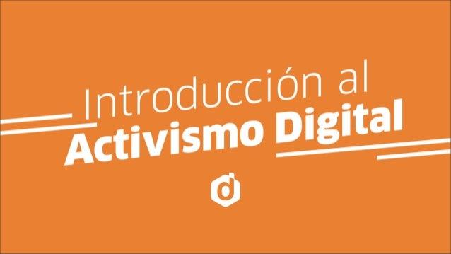 La revolución no será TELEVISADA -Introducción al activismo digital-