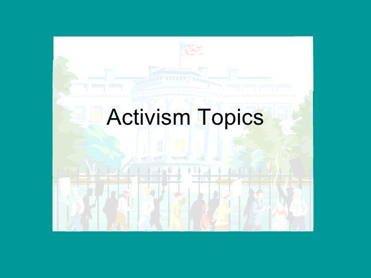 Activism Topics
