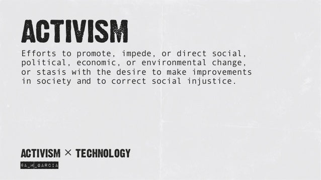 Activism x Technology Slide 2