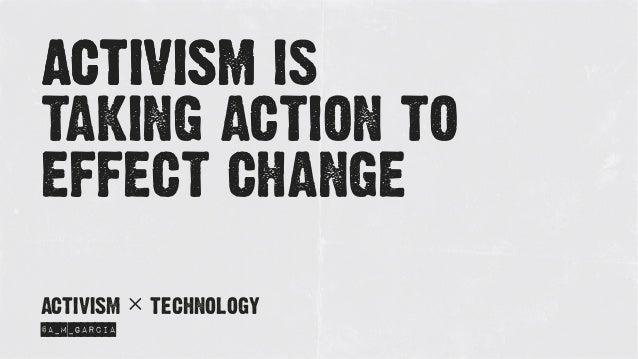 Activism x Technology Slide 3