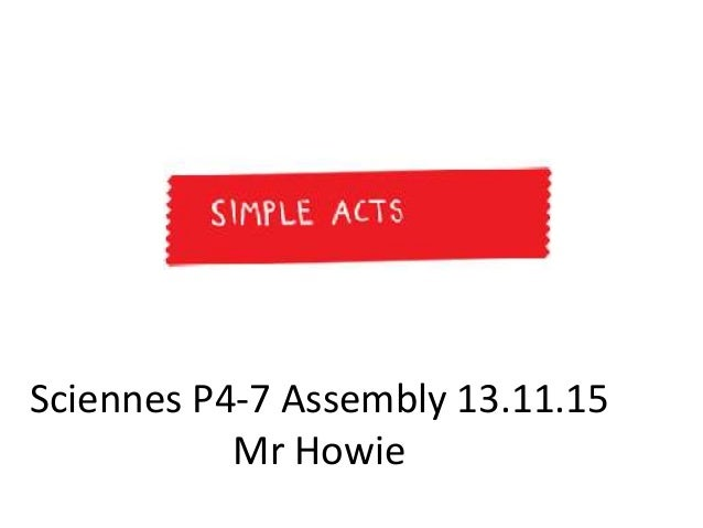 Sciennes P4-7 Assembly 13.11.15 Mr Howie