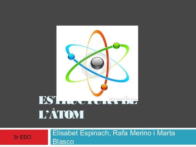 ESTRUCTURA DE L'ÀTOM 3r ESO  Elisabet Espinach, Rafa Merino i Marta Blasco