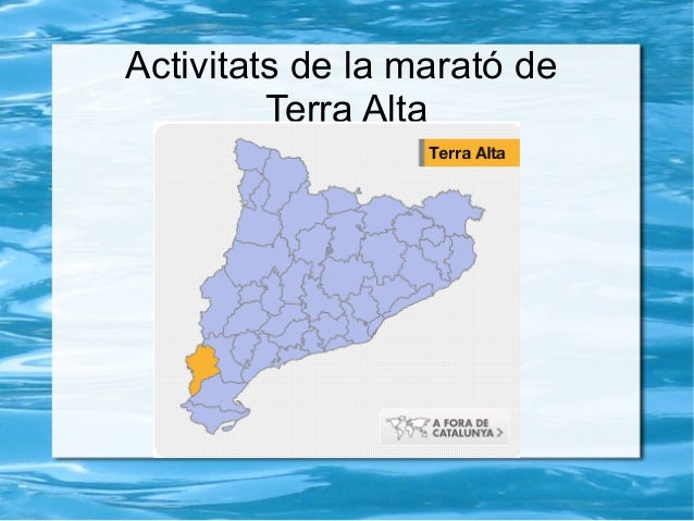Activitats de la marató de         Terra Alta
