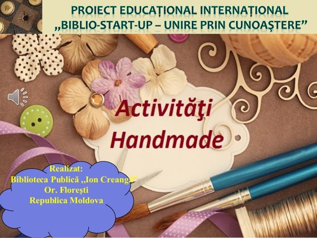 Proiect educational international