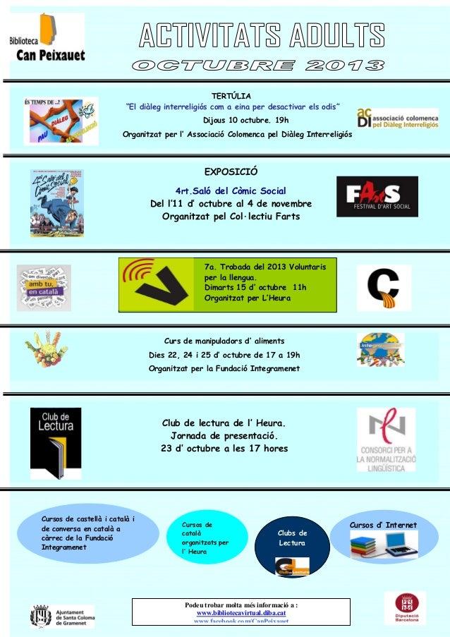 Cursos d' Internet Podeu trobar molta més informació a : www.bibliotecavirtual.diba.cat www.facebook.com/CanPeixauet Curso...