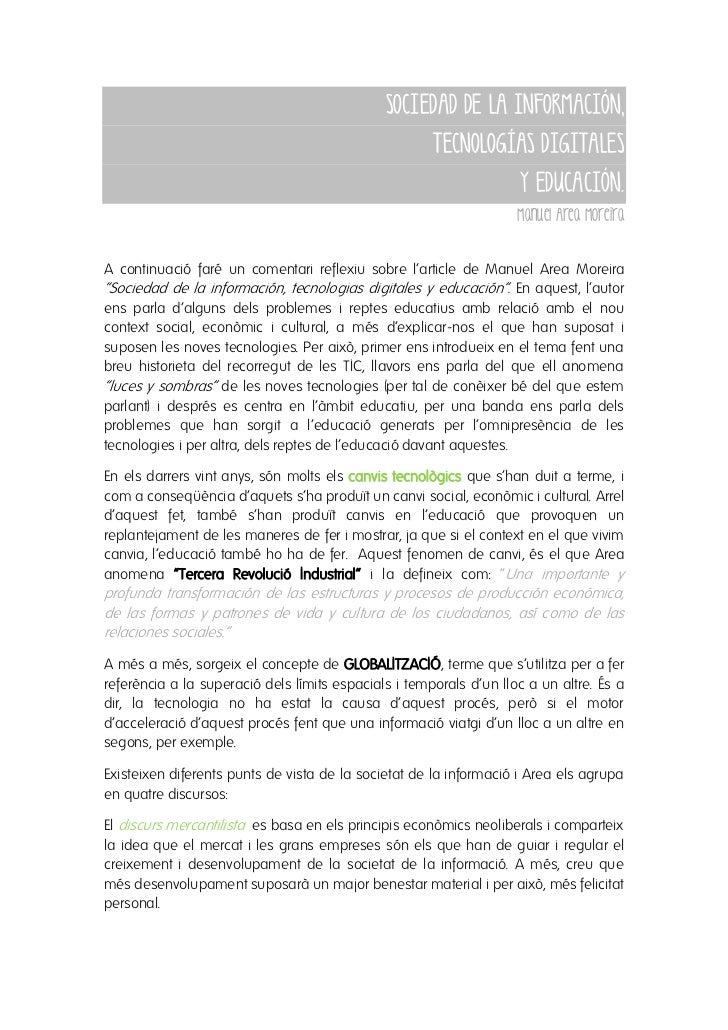 SOCIEDAD DE LA INFORMACIÓN,                                                   TECNOLOGÍAS DIGITALES                       ...