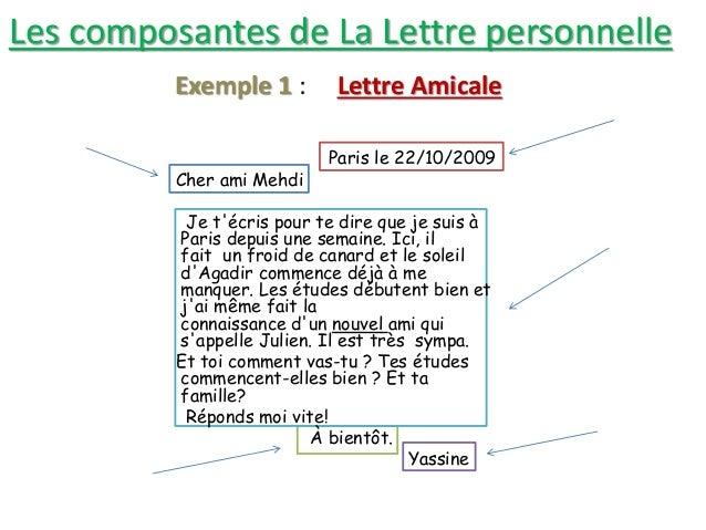 Activité De Lecture La Correspondance 3ème Année