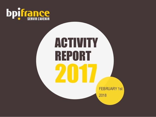ACTIVITY REPORT 2017FEBRUARY 1st 2018