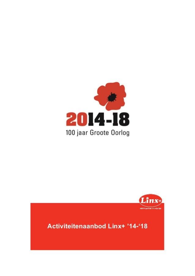 Activiteitenaanbod Linx+ '14-'18