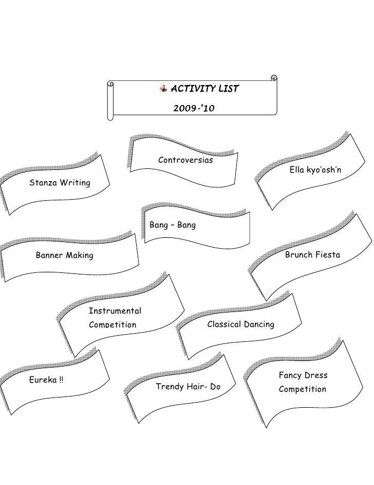 ACTIVITY LIST                                   2009-                                  2009-'10                           ...