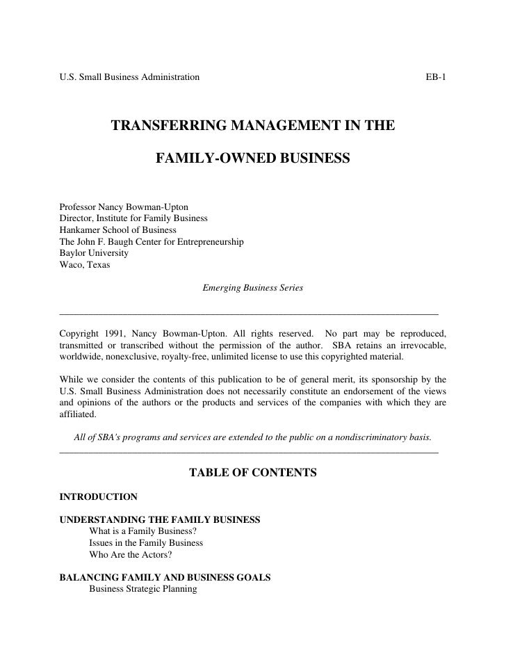 U.S. Small Business Administration                                                         EB-1            TRANSFERRING MA...