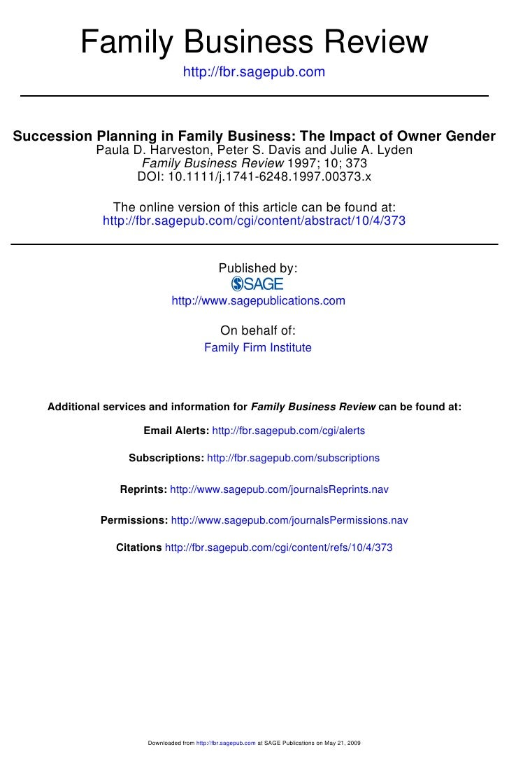 Family Business Review                                   http://fbr.sagepub.comSuccession Planning in Family Business: The...