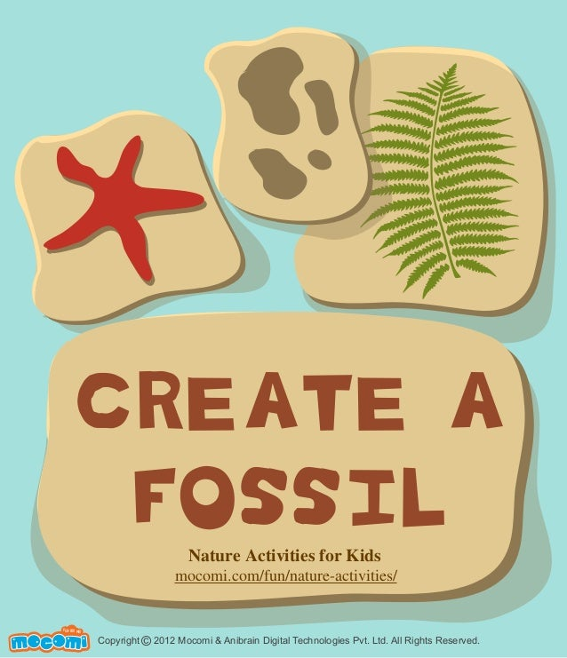 create a fossil nature activity for kids. Black Bedroom Furniture Sets. Home Design Ideas