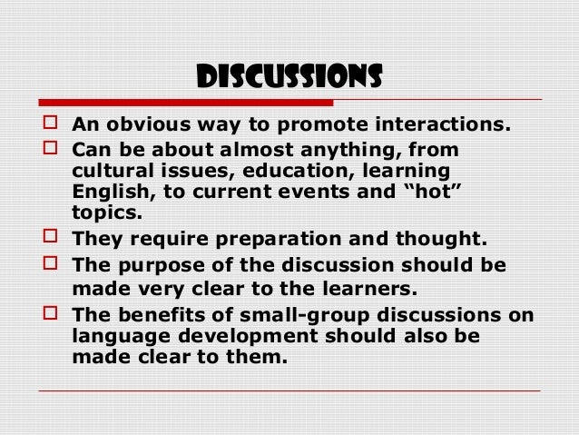 Activities to promote communicative competence