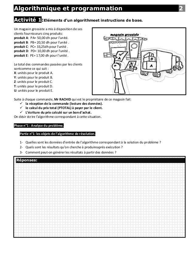 Algorithmique et programmation                                                                       2Activité 1:Eléments ...