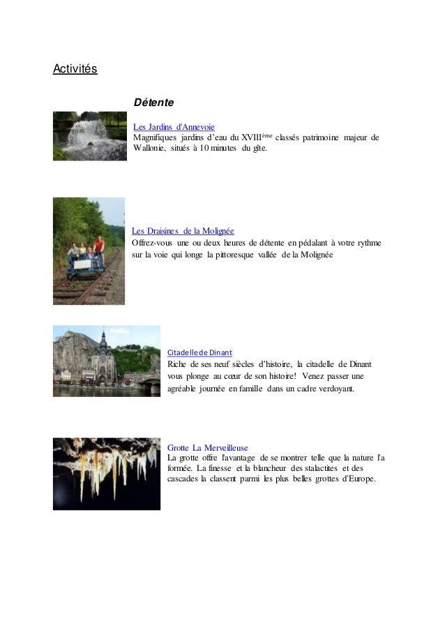 Activités Détente Les Jardins d'Annevoie Magnifiques jardins d'eau du XVIIIème classés patrimoine majeur de Wallonie, situ...