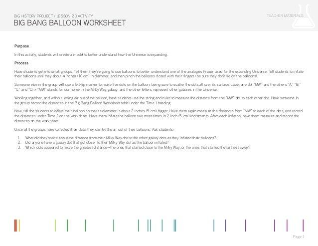 Lesson 2 3 Activity: Big Bang Balloon