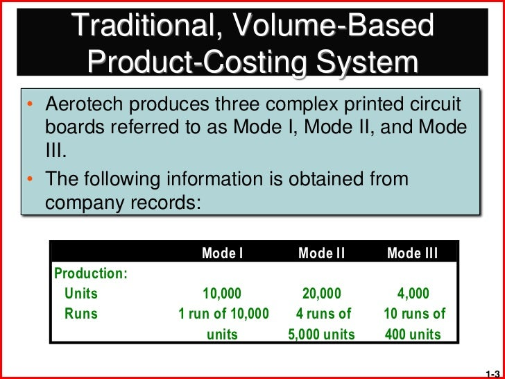 activity based costing and traditional costing pdf