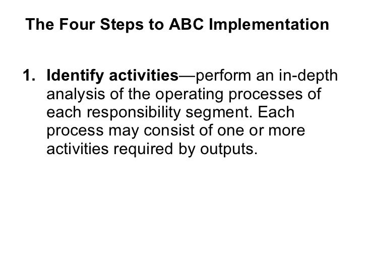 contributions of activity based costing abc to Activity based costing (abc) is a managerial accounting system that  or  activities that do not contribute to the final value of the product or.