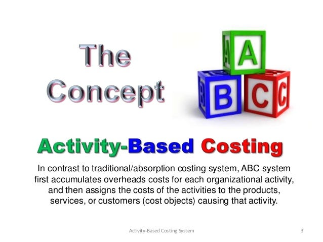a report on activity based costing abc Abstract this paper describes the application of activity-based costing (abc) to  cal- culate unit costs for a healthcare or- ganization in a developing country it.