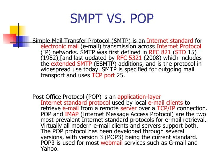 E business - Smtp and pop3 port number ...