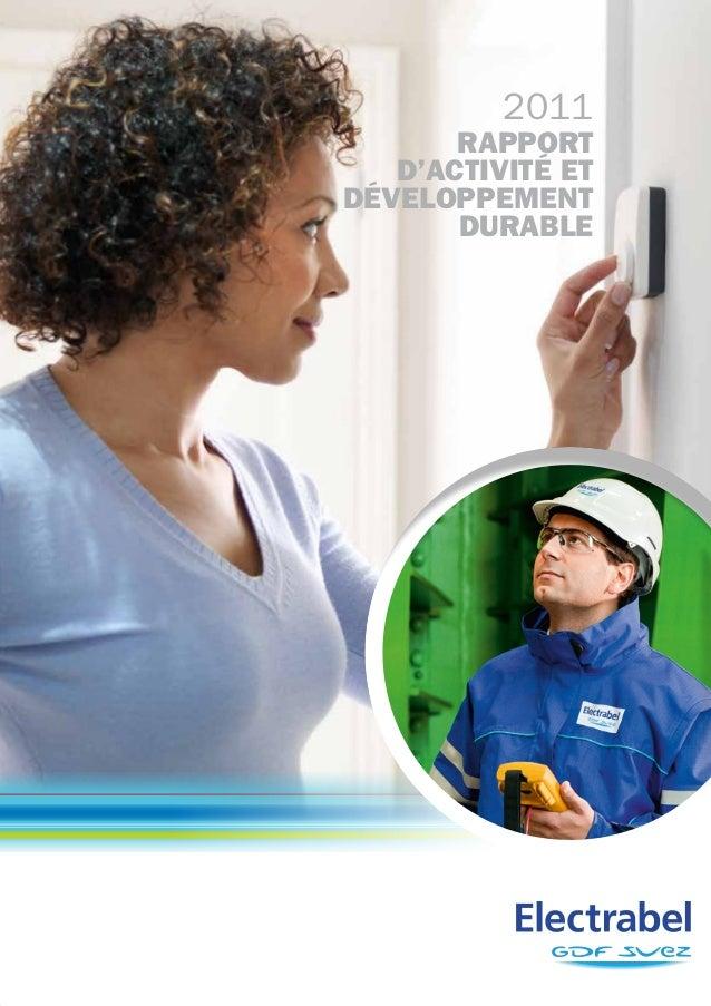 2011       rapport   d'activité etdéveloppement       durable