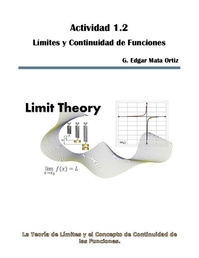 Actividad 1.2 Límites y Continuidad de Funciones G. Edgar Mata Ortiz