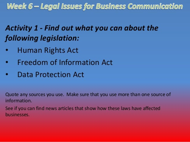 Copy of P5: Explain the legal and ethical issues in ...