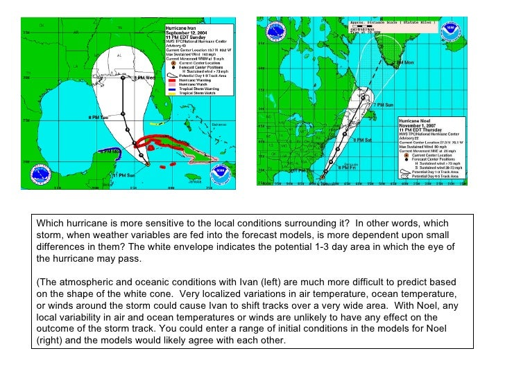 hurricane the cause and how to predict them essay The effect of sea surface temperature on hurricanes and water temperature that might cause a hurricane to them predict a hurricane path based on the.