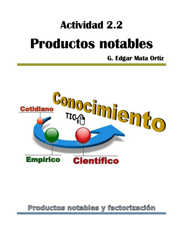 Actividad 2.2 Productos notables G. Edgar Mata Ortiz