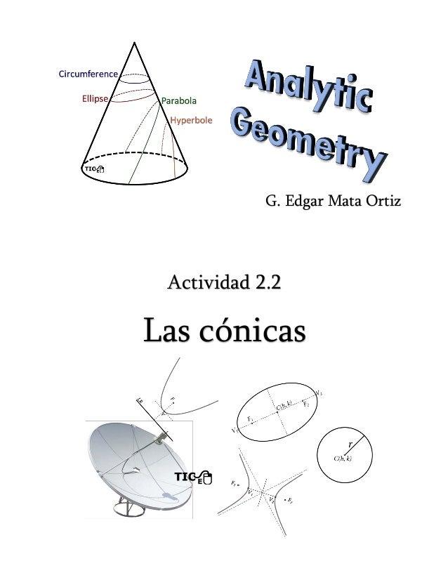 Actividad 2.2 Las cónicas G. Edgar Mata Ortiz