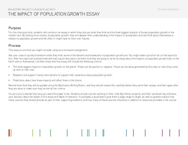 essay on population explosion for class 9