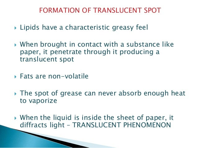 fats and oils spot test Oils and fats glossary  anisidine value is determined by reacting a test solution of the oil with p-anisidine, which reacts with the 2-alkenals,  manufactured.