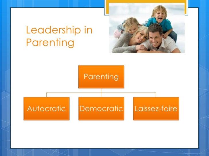 Leadership inParenting             ParentingAutocratic   Democratic   Laissez-faire
