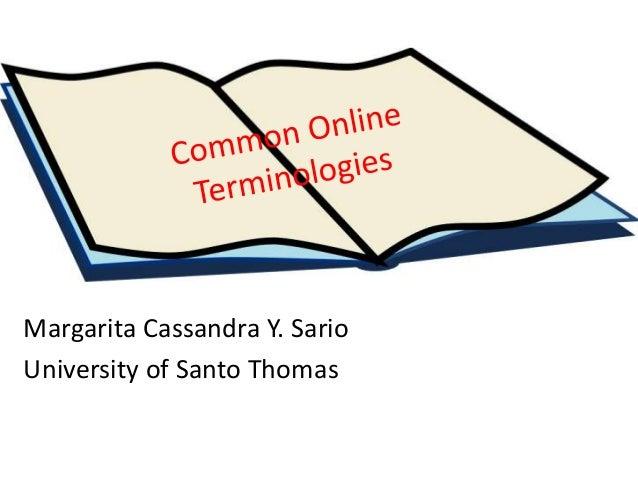 Margarita Cassandra Y. Sario University of Santo Thomas