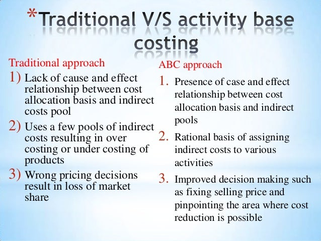 advantages and disadvantages of traditional costing system
