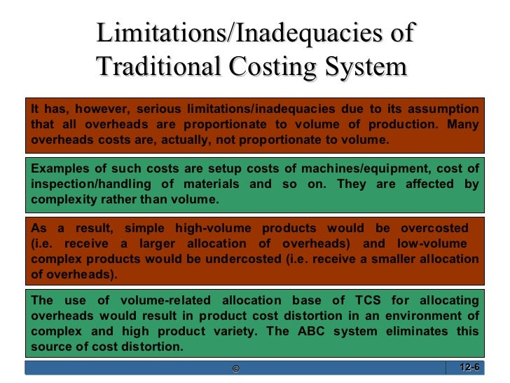 disadvantages of traditional costing system The advantages and disadvantages of traditional absorption costing techniques  such systems and their disadvantages  based costing system as its more suitable .