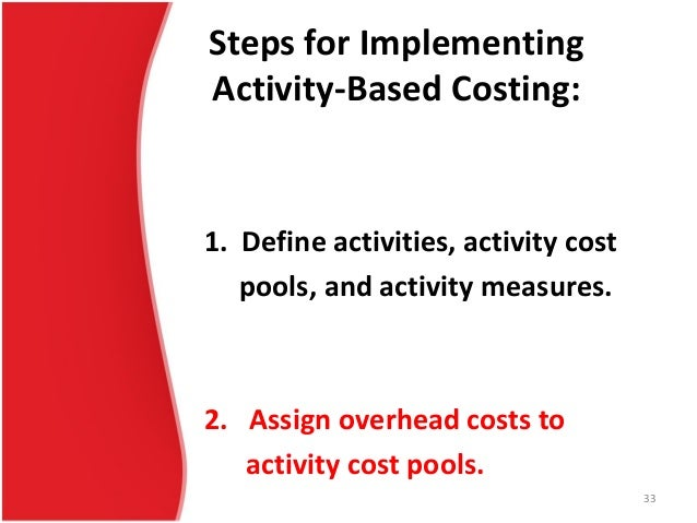 implementation of activity based costing in malaysia Cost per student using abc approach: a case study activity based costing in recognition that studies on abc implementation in service organization is scare.
