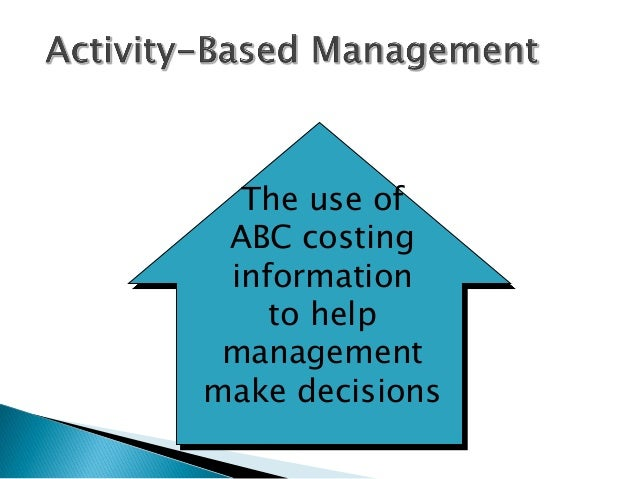 effect of value added activity based costing Effects on business decisions management in the  german abc deals only with the cost of value-added processes, whereas the costs of non.