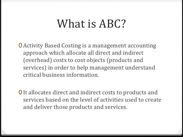 activity based costing term paper Topic: activity based costing paper type: essay  activity based costing which has become popular among influence in decisions relating to the fixed term.
