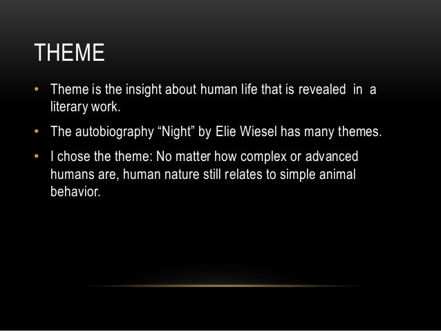 theme of dehumanization night by elie wiesel Discover and share dehumanization quotes from night dehumanizing quotes the power of now quotes black man quotes stupid quotes good guy quotes elie wiesel quotes.