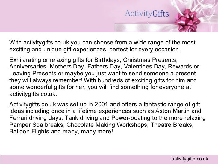 Offer Unique Gift Experiences At Unbeatable Prices 2