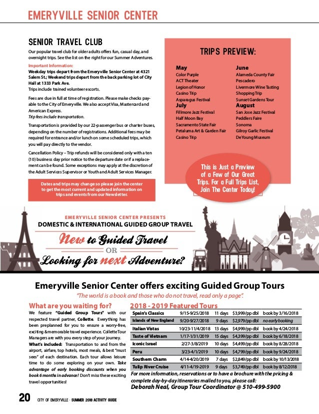 City of Emeryville Summer 2018 Activity guide