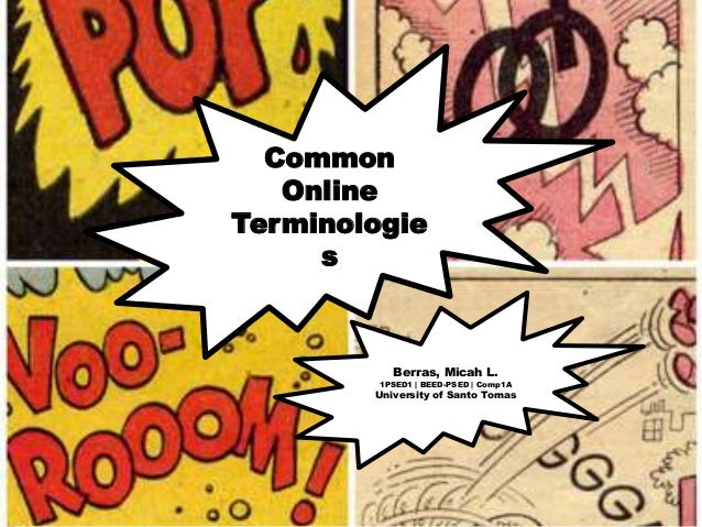 Common Online Terminologie s  Berras, Micah L.  1PSED1 | BEED-PSED | Comp1A  University of Santo Tomas
