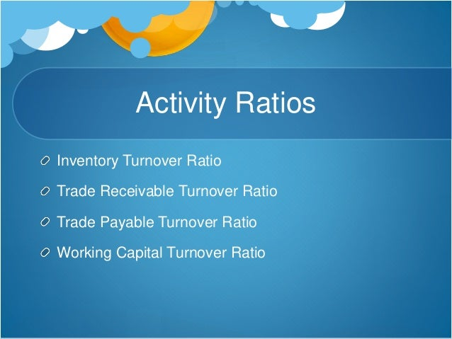 activity ratio or turnover ratio by deepak madan